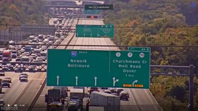 multi-vehicle crash I-95 southbound