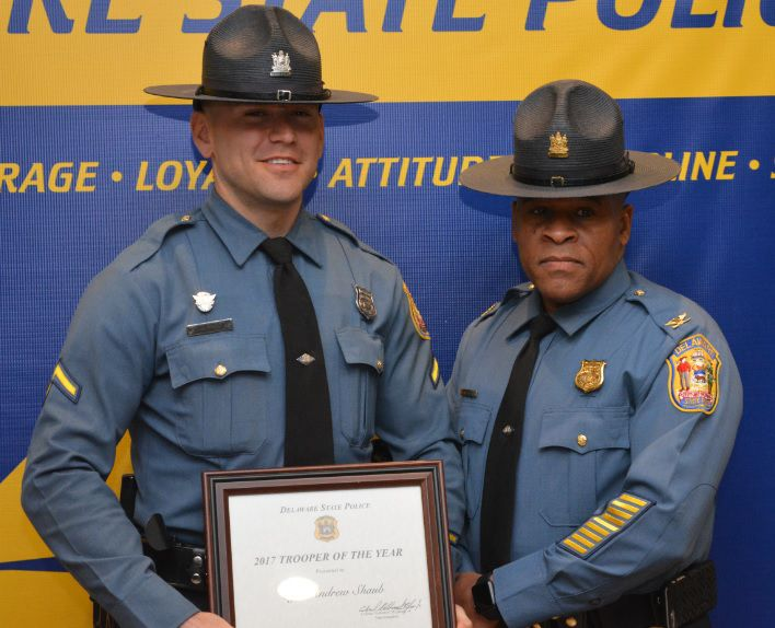 Delaware State Police choose 2017 Trooper of the Year from