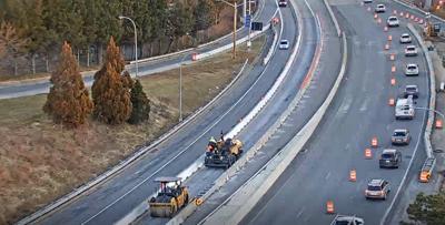 Traffic slow in I-95 work zone