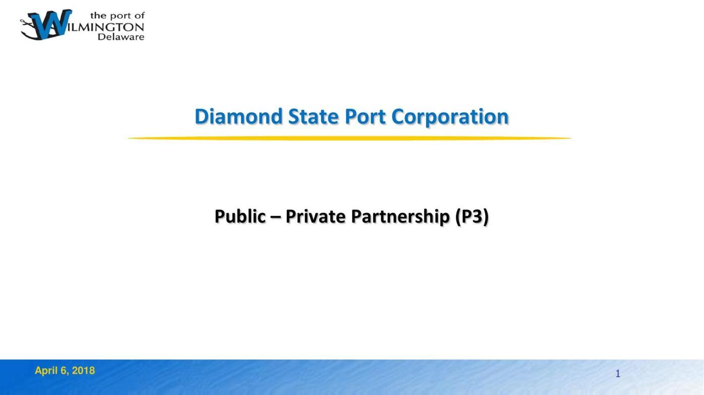 Port of Wilmington presentation