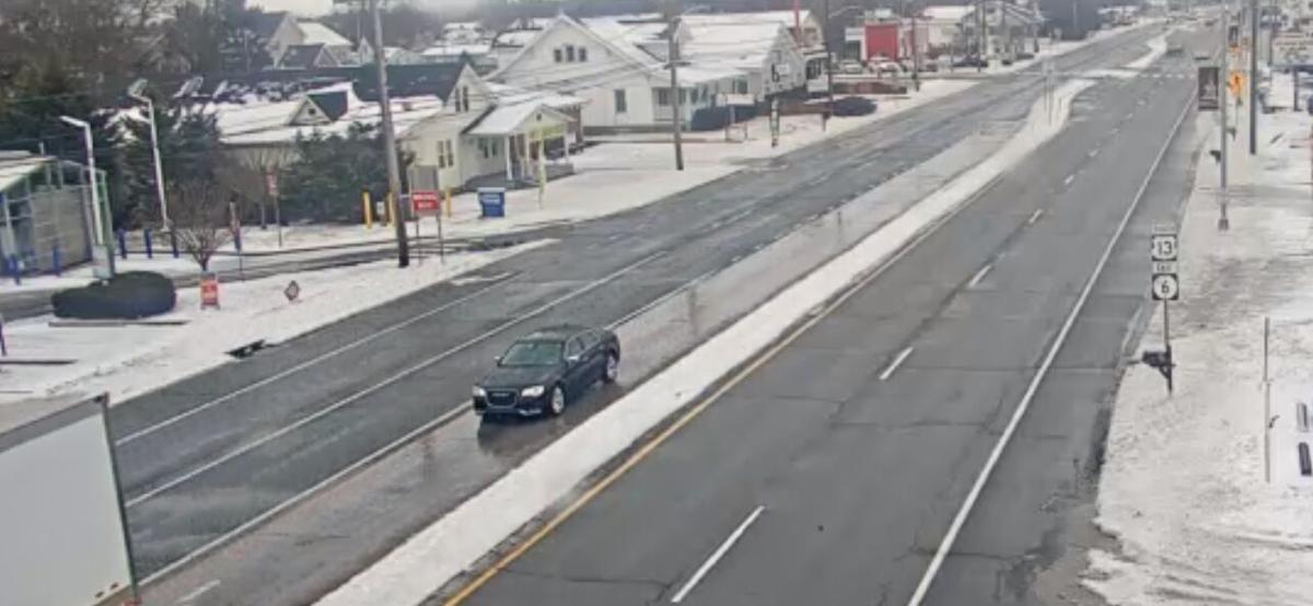 Snow in Smyrna on February 18, 2021