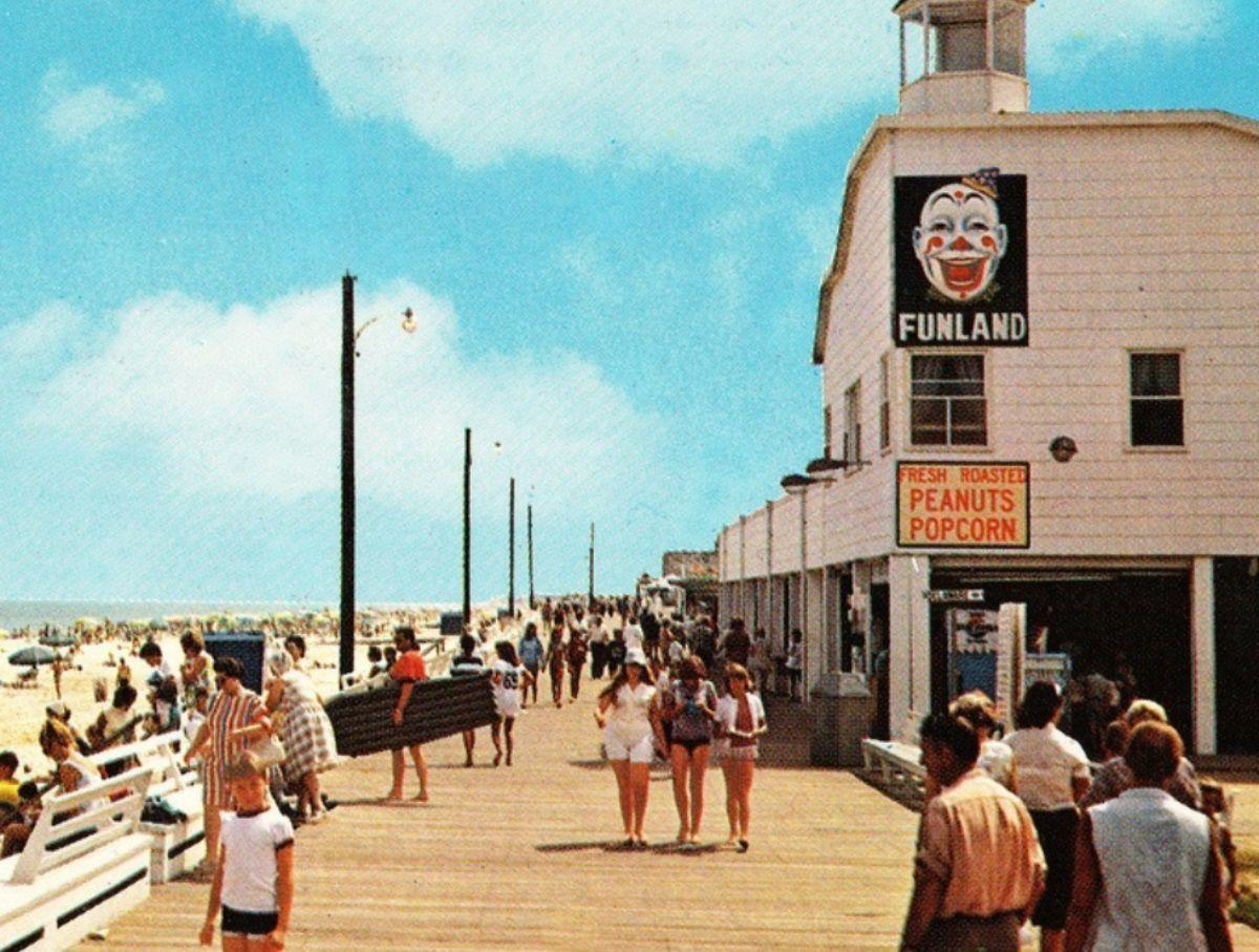 Fundland on the Rehoboth Beach boardwalk, as it appeared in the 1970s
