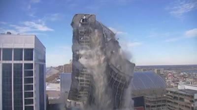 Trump Tower AC NJ implodes