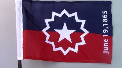 mini Juneteenth flag