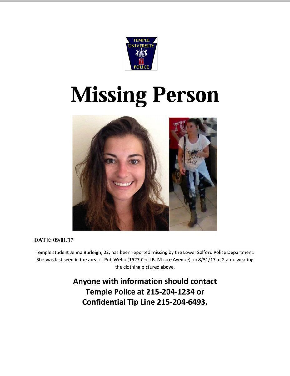 Temple Student Jenna Burleigh Missing