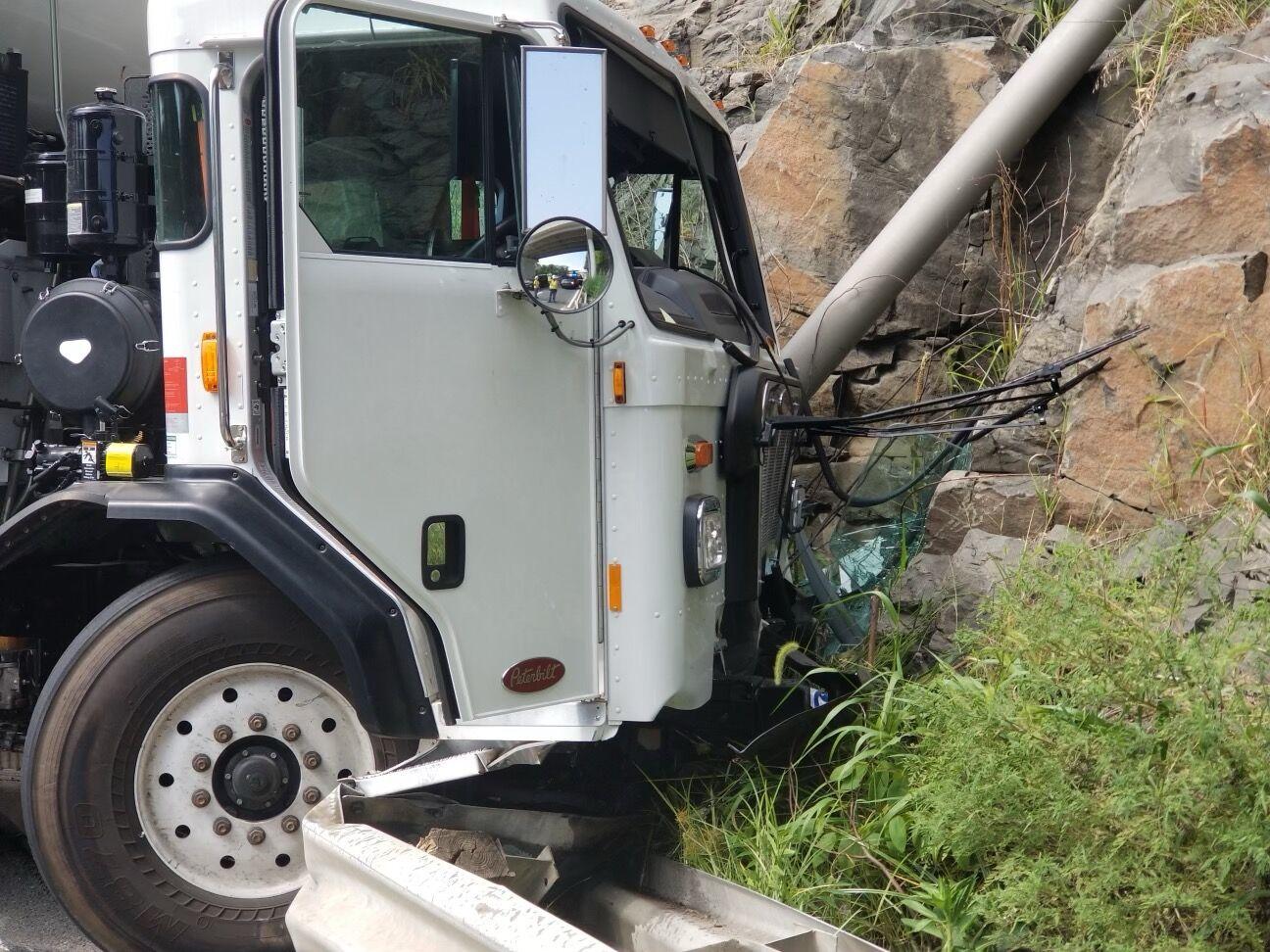 trash truck crash
