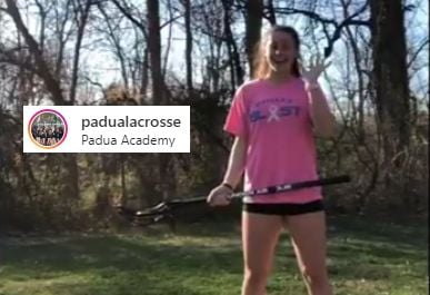 Padua Lacrosse begins a virtual passing drill