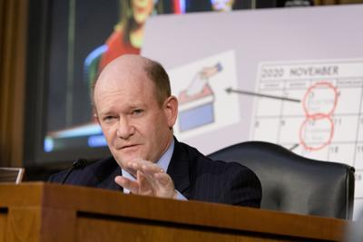 Senator Chris Coons at Coney Barrett hearings