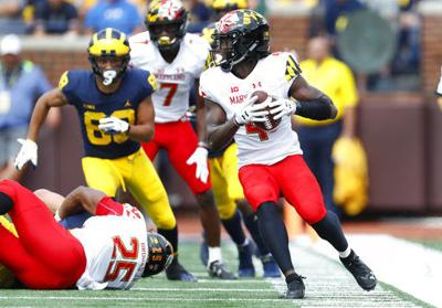 Darnell Savage intercepts a pass for Maryland