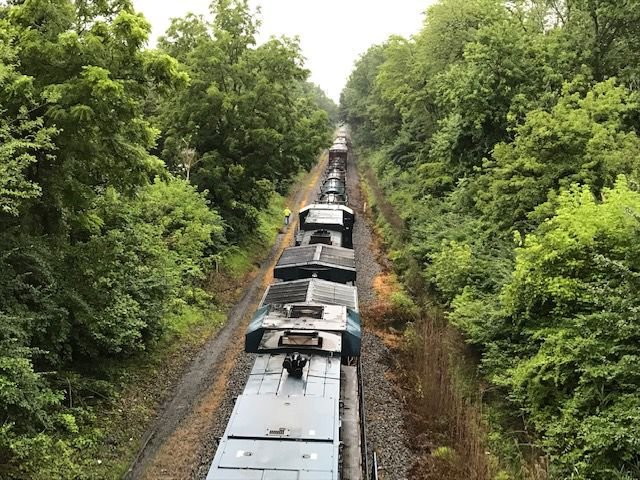 Newark train ped 1
