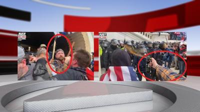 Peter Schwartz at Capitol riot (Courtesy of FBI affidavit)