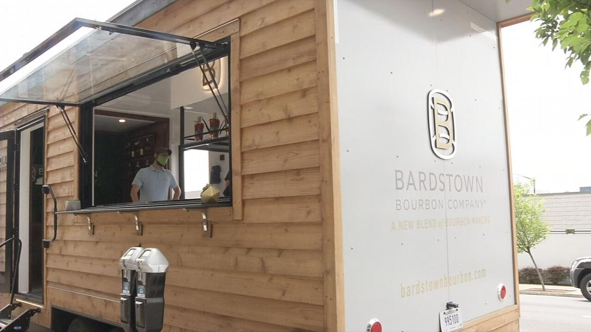 Bardstown Bourbon Company's mobile tasting trailer visits downtown Louisville on April 28, 2021