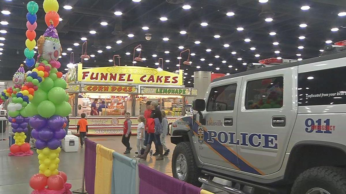 louisville kids fair indoor carnival continues through sunday at kentucky expo center