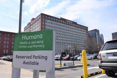 Humana Waterside building parking sign in foreground