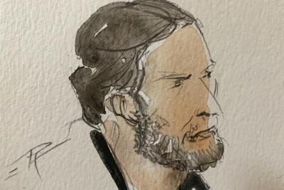 Courtroom sketch Salah Abdeslam