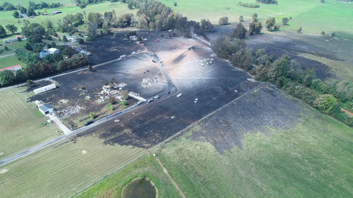 Aerial Photo of Gas Explosion in Lincoln County - 8-1-19