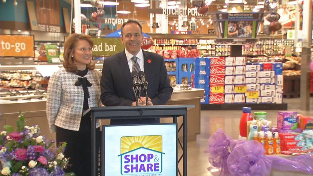 Governor Matt Bevin and First Lady Glenna Bevin kicked off the tenth annual Shop and Share event 1-31-19