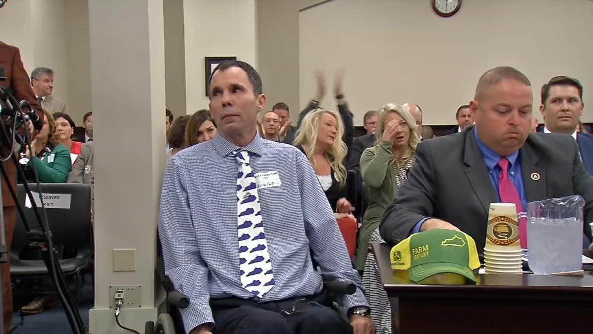 Eric Crawford testifies before Kentucky House Judiciary Committee in medical marijuana hearing