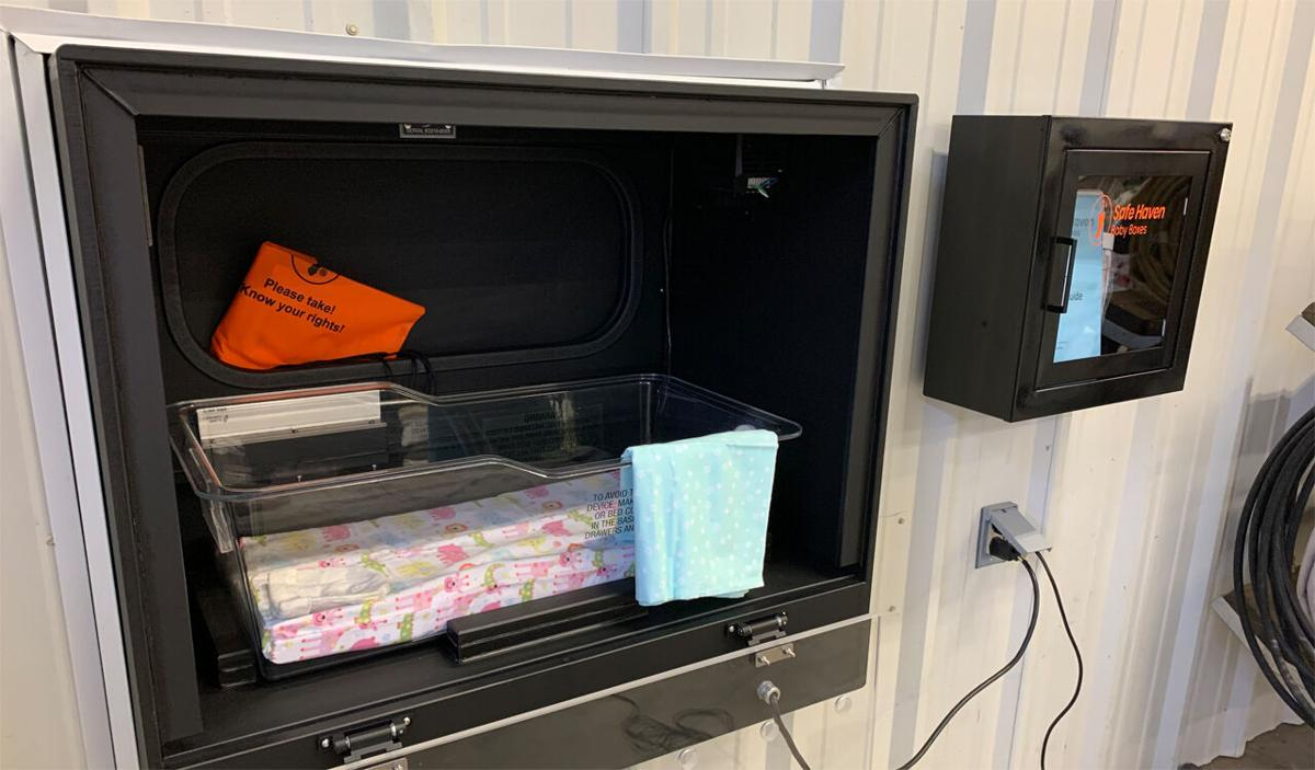 Baby box installed at Harrison Township Fire Station 1 in Corydon, Indiana (Jan. 11, 2021)