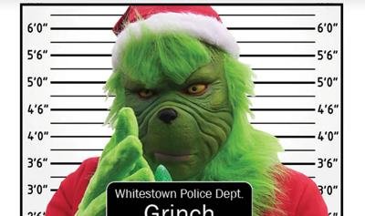 The Grinch (image posted by Whitestown Police Department)