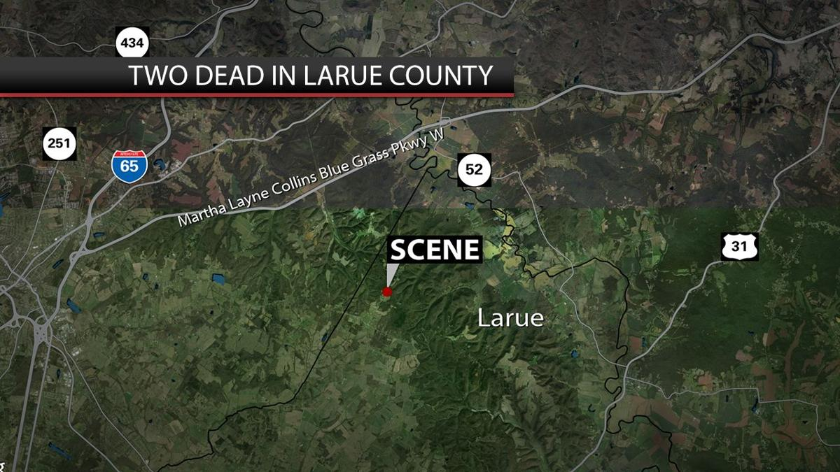 LaRue County deaths map 7-22-19