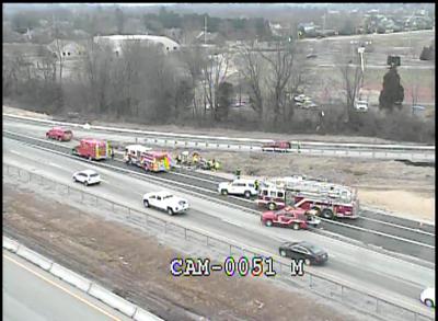 I-71 southbound fatal crash near Gene Snyder Freeway on Jan. 11, 2021