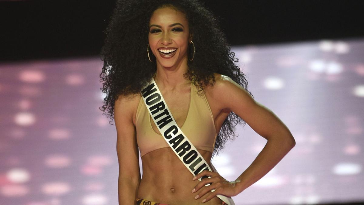 Miss North Carolina Cheslie Kryst at 2019 Miss USA final competition