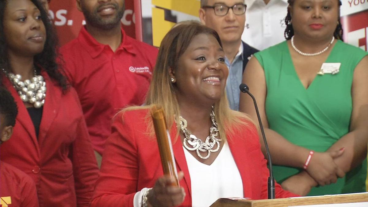 June 20, 2019 news conference by Louisville Urban League on new sports complex