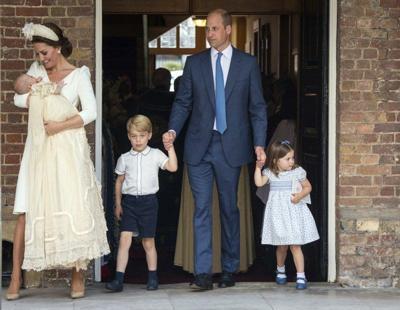 William, Kate's third child Prince Louis christened