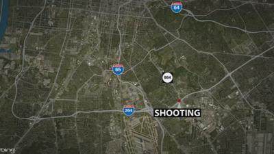 I-264 Double Shooting Map - 9-10-19