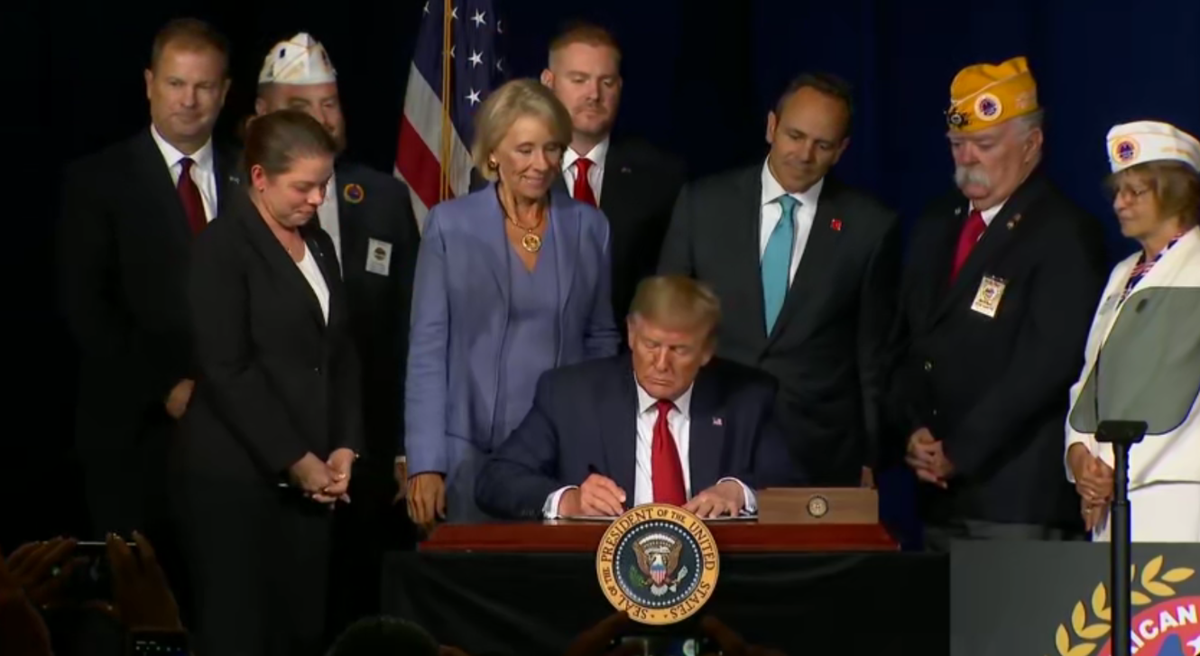 Trump Signs Law to Eliminate Vet Student Loans