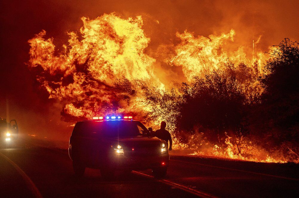 California Wildfires - Bear Fire burns in Oroville