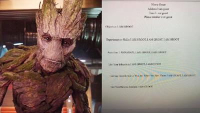 'I am Groot' resume goes viral, after Texas teacher gave super hero assignment
