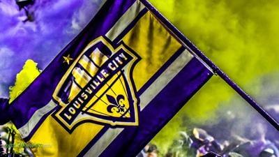 OLD LOGO --LouCity FC flag