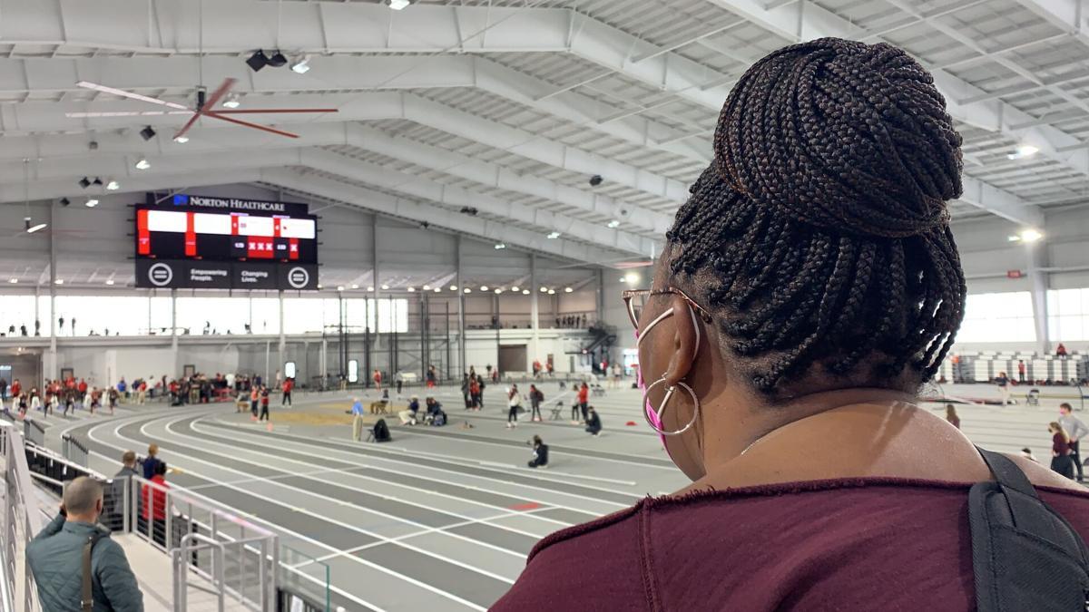 EKU mom cheers on son during track meet
