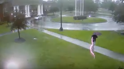 CLOSE CALL: Man Almost Zapped By Lightning During Storm In South Carolina...