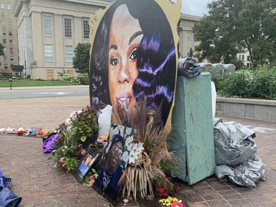 Breonna Taylor memorial at Jefferson Square Park 8-16-20