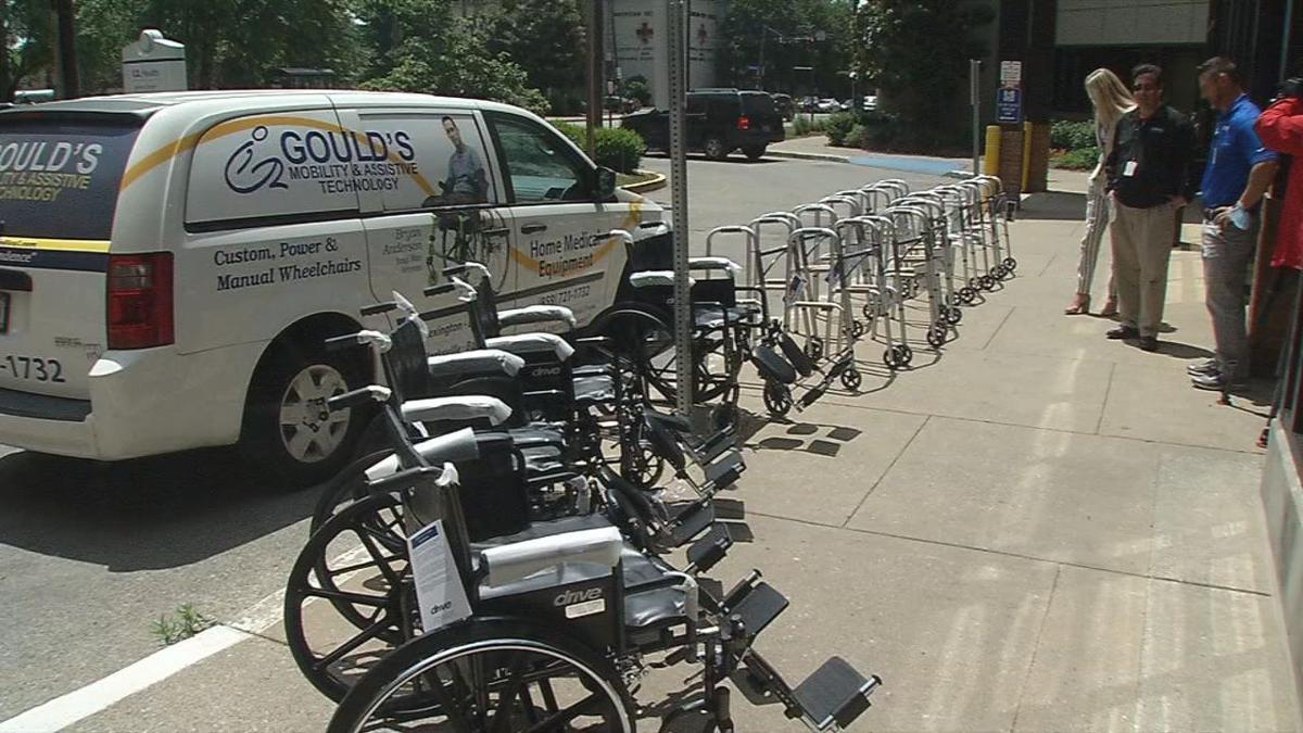 U of L hospital wheelchair donation Gould's.jpg