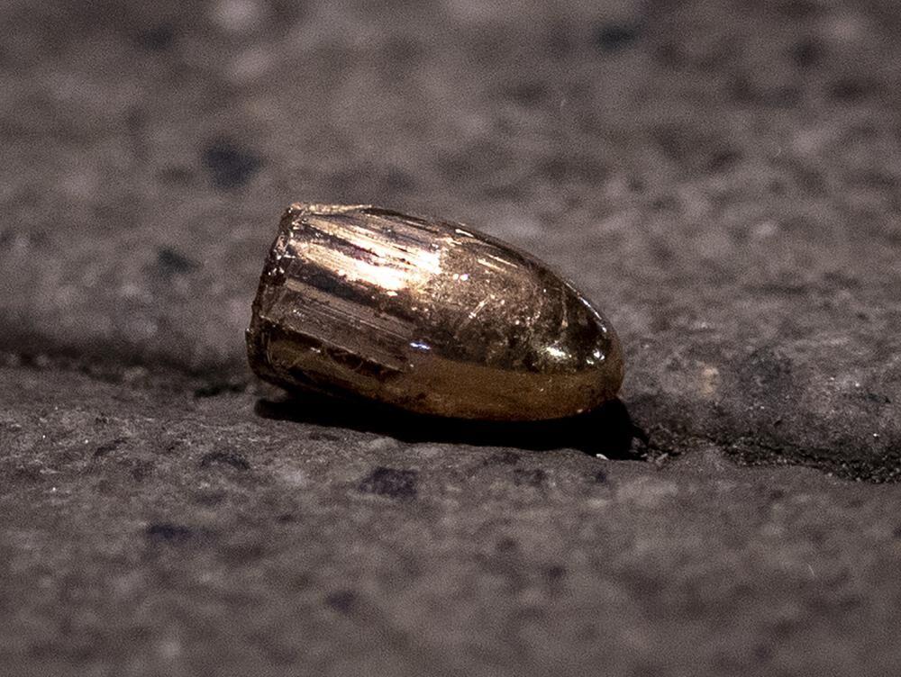 Bullet on sidewalk after shooting in Germany