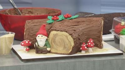 Rainbow Cookies And A Yule Log Make Festive Holiday Desserts