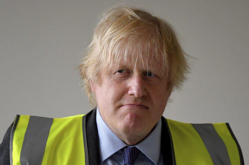 Boris Johnson at construction site on 6-26-20