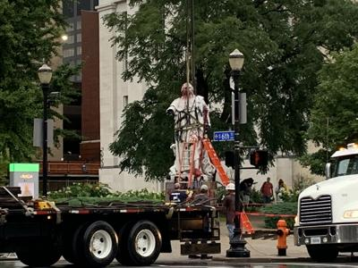 King Louie statue being removed from Downtown Louisville 9-3-2020