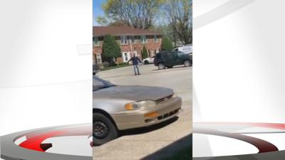 Still from witness video of man shot by police 4-9-19