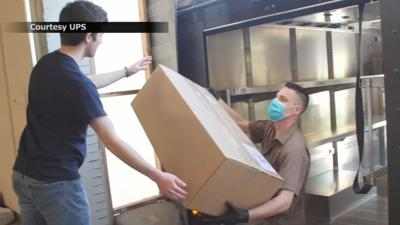 UPS distributing thousands of face shields manufactured in U of L lab