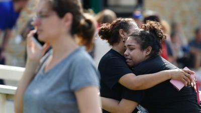Bombs found in Texas school where shooting left up to 9 dead, 2 suspects in custody