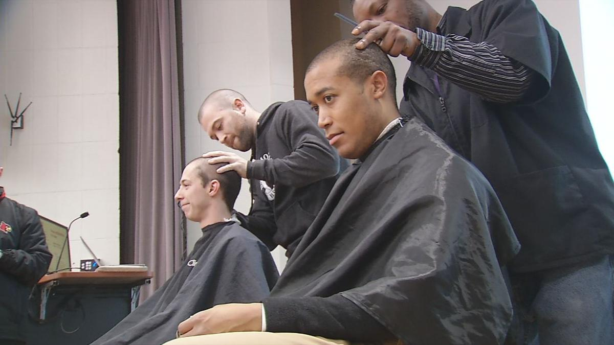 U of L med students get heads shaved at RaiseRED Shaved Head event