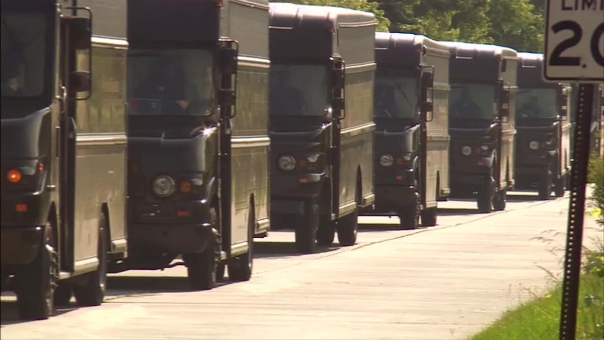 UPS trucks (file)