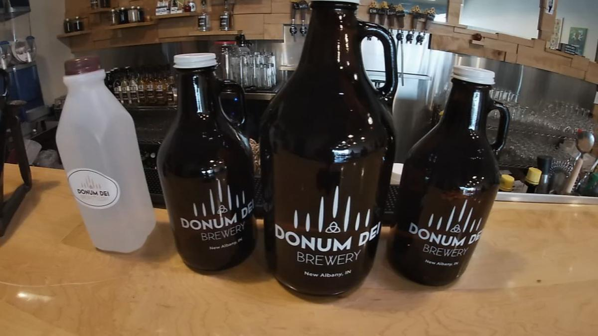 Donum Dei brewery growlers.jpg