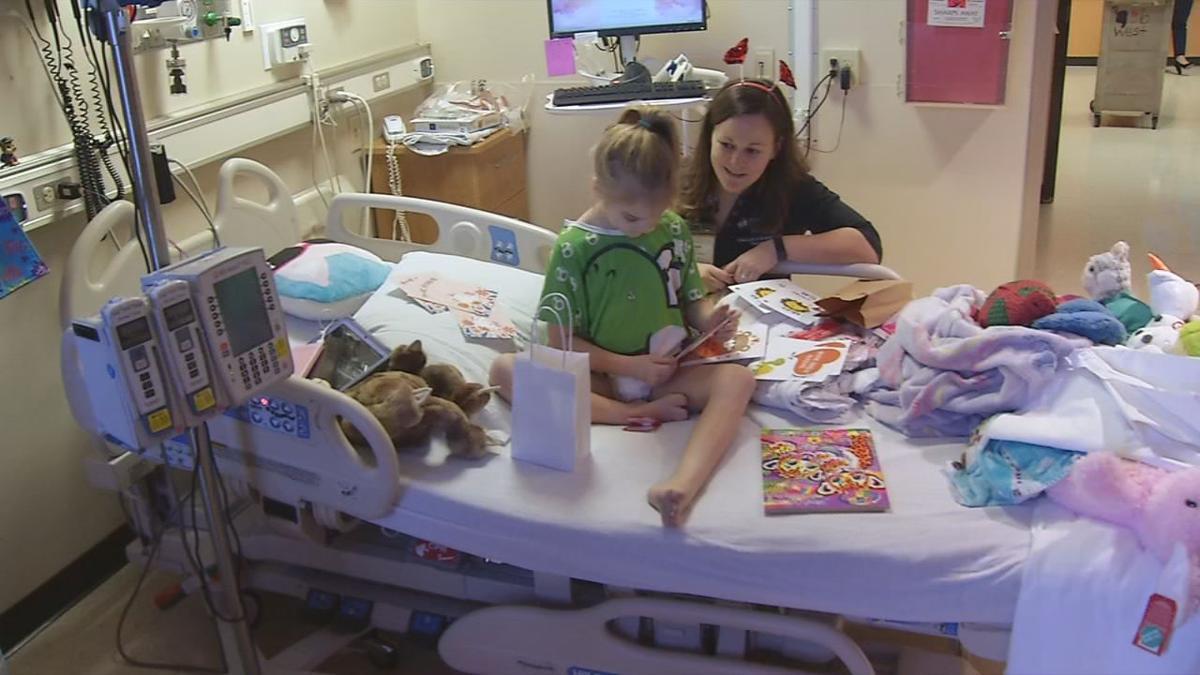Valentine's Day cards delivered to kids at Norton Children's Hospital on Feb. 14, 2020