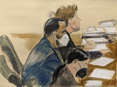 R. Kelly trial sketch